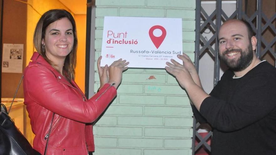 Sandra Gómez abre el 'Punt d'Inclusió' de Russafa-València Sud