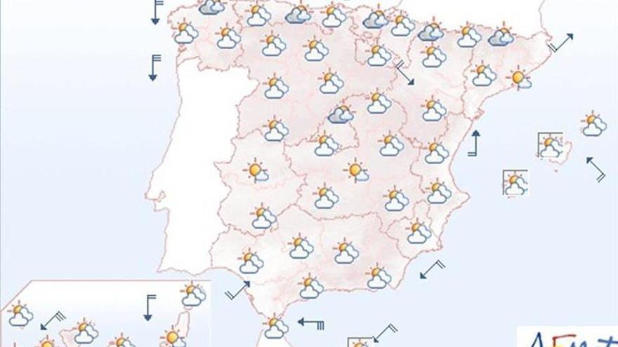 La Aemet prevé para hoy viento fuerte en el Estrecho y en la costa gallega