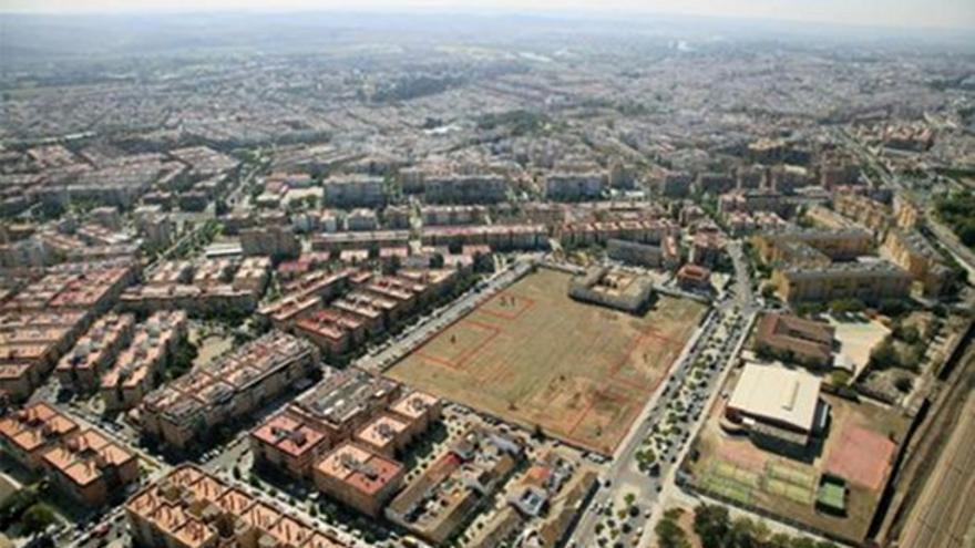 Vista aérea del suelo de la antigua cárcel de Fátima.