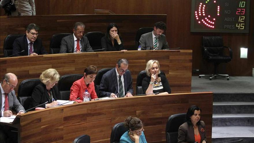 El debate en Asturias constata el alejamiento del Gobierno con IU y UPyD