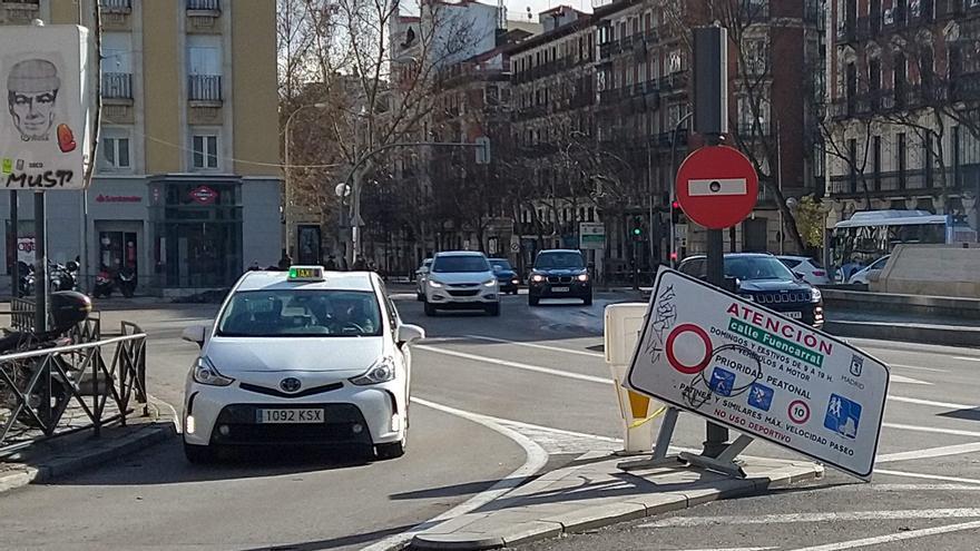 Las peatonalizaciones temporales volverán el 30 de enero a Madrid después de tres semanas de suspensión