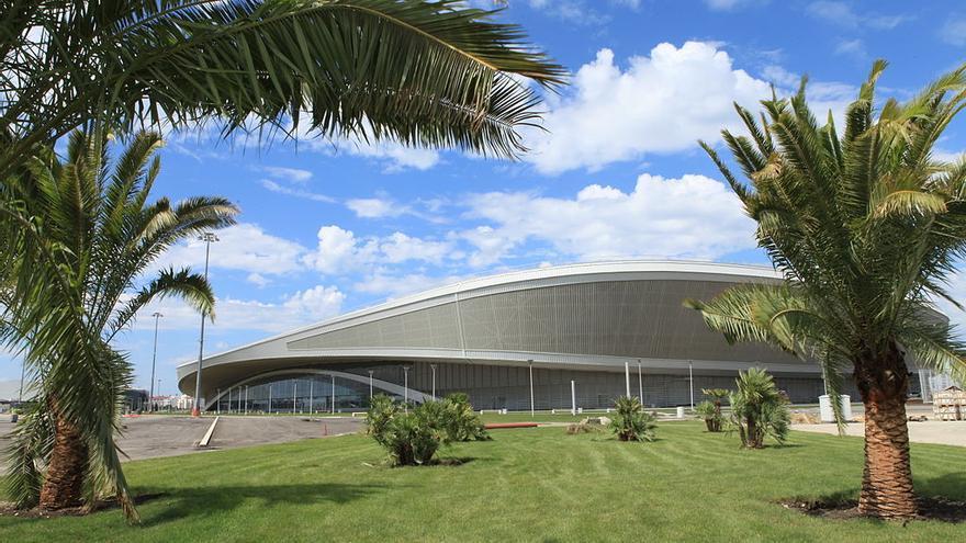 El centro de patinaje Adler en la zona olímpica de Sochi