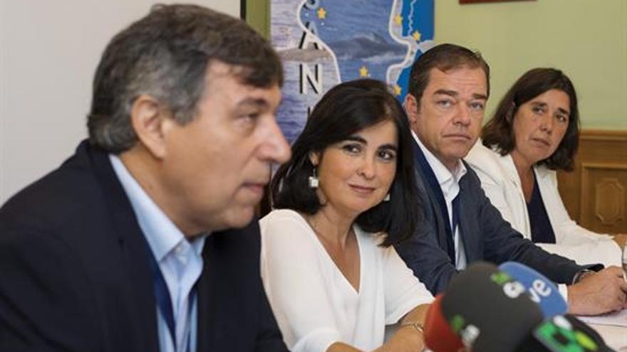 De izquierda a derecha, Antonio Fernández, Carolina Darias, Christoph Kiessling y Blanca Delia Pérez