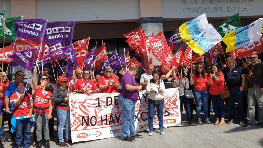 Concentración celebrada este miércoles en Santa Cruz de La Palma.