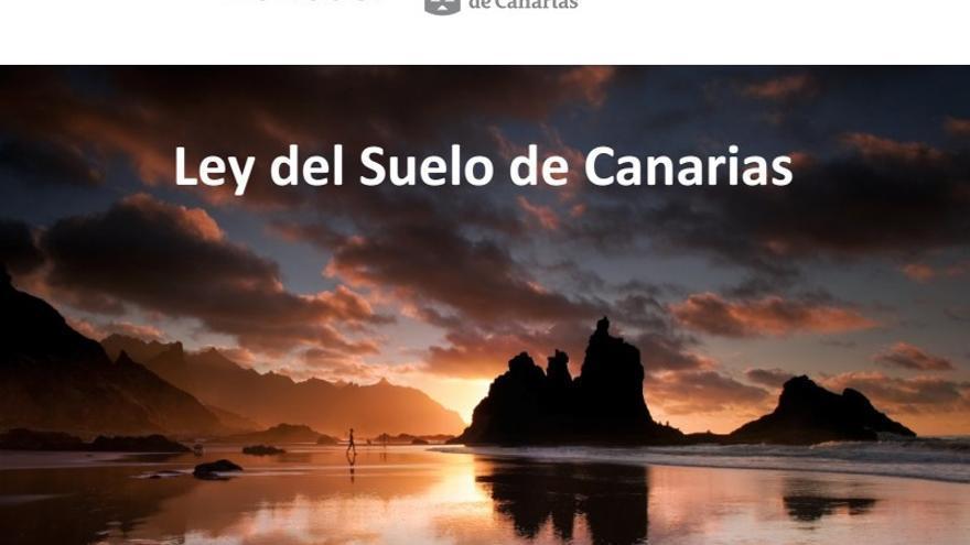 Portada del borrador de la Ley del Suelo de Canarias