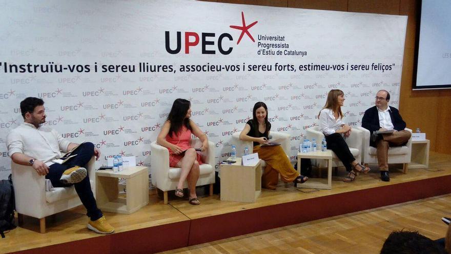 Imagen del debate de la Universitat Progressista d'Estiu de Catalunya, celebrado este viernes en Barcelona.