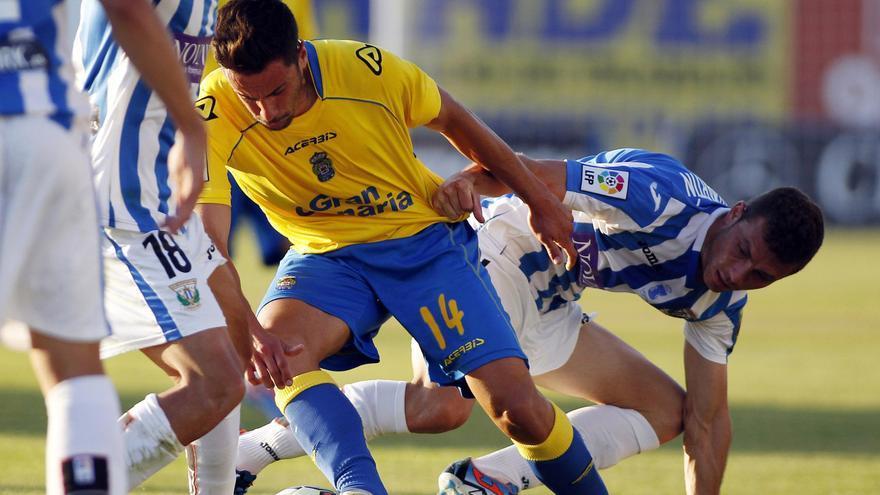 Hernán, en el partido entre el Leganes y la Unión Deportiva Las Palmas. (LFP)