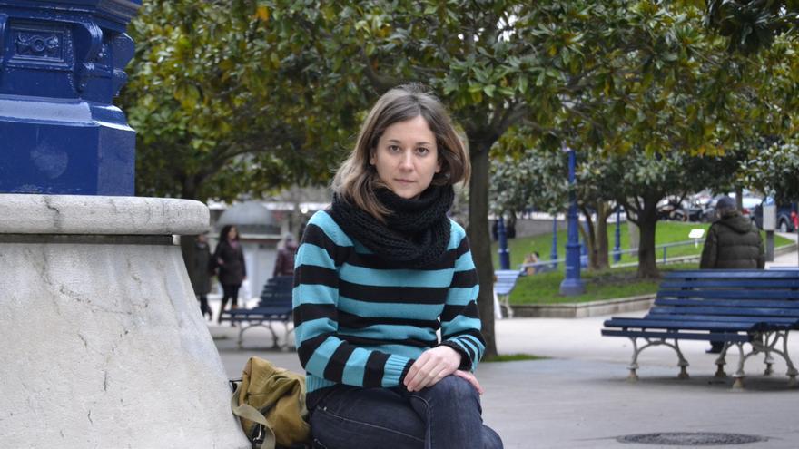 La eurodiputada de IU, Marina Albiol, en Santander, donde protagoniza una jornada abierta sobre el TTIP.