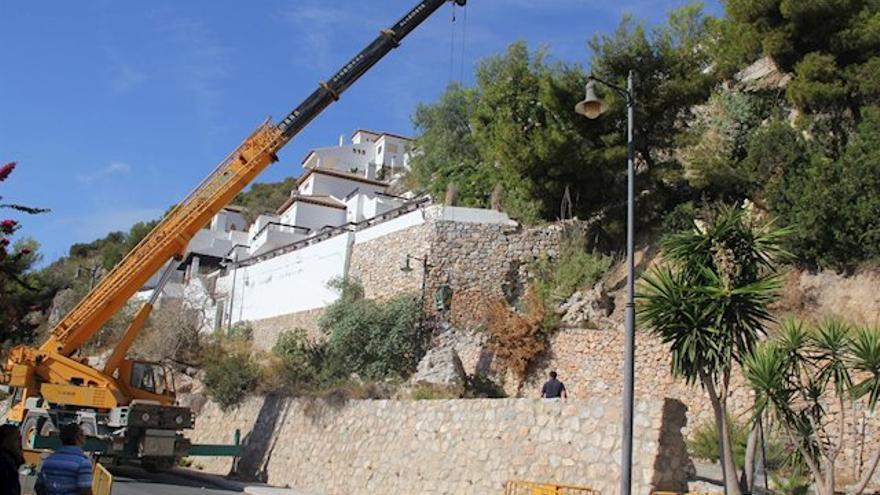 Las viviendas de los vecinos sufren derrumbes y desprendimientos desde hace años