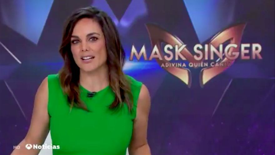 Mónica Carrillo promociona la llegada de 'Mask Singer'
