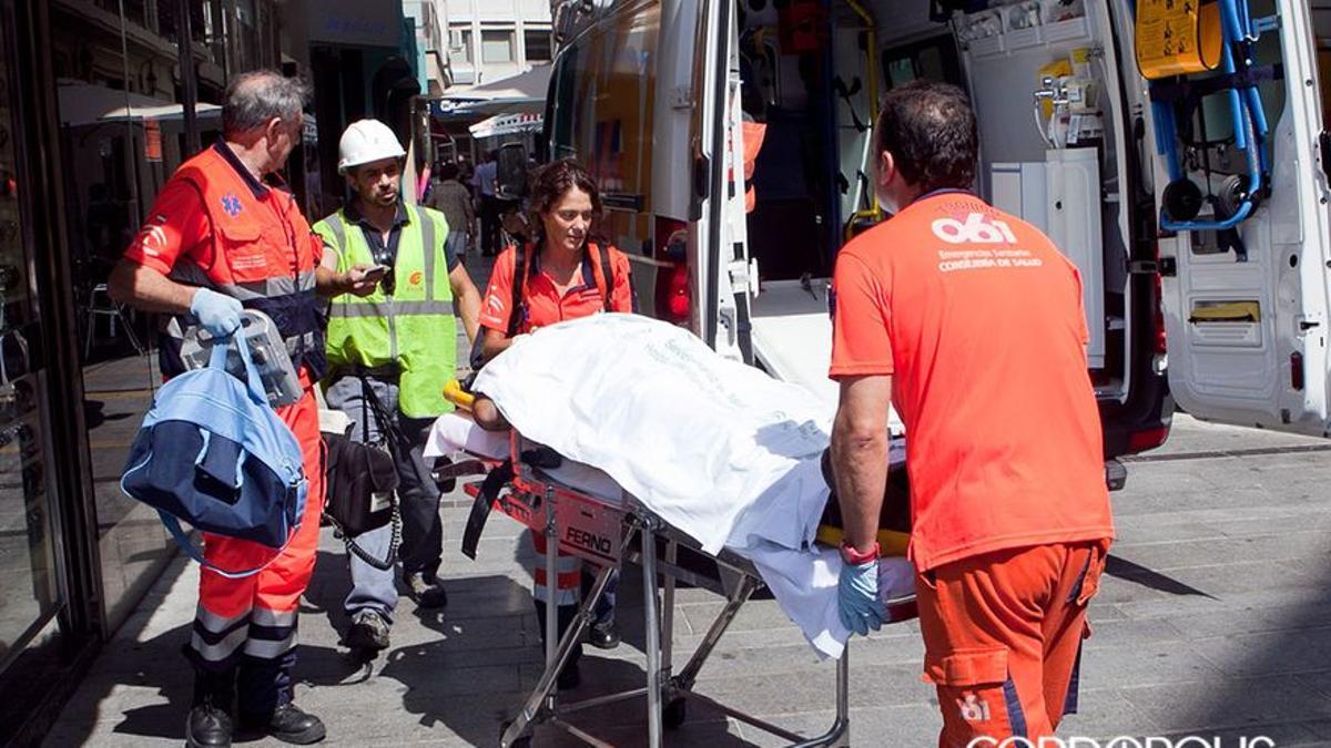 Imagen de archivo de un accidente laboral