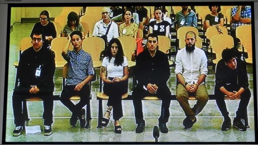 Los acusados de Straight Edge, durante el juicio en la Audiencia Nacional.