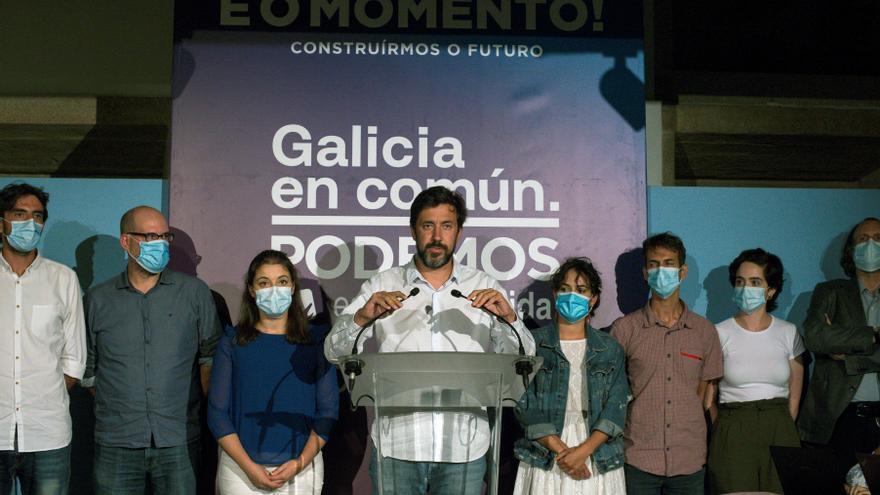 El líder de Podemos en Galicia asume el fracaso de la fórmula En Común