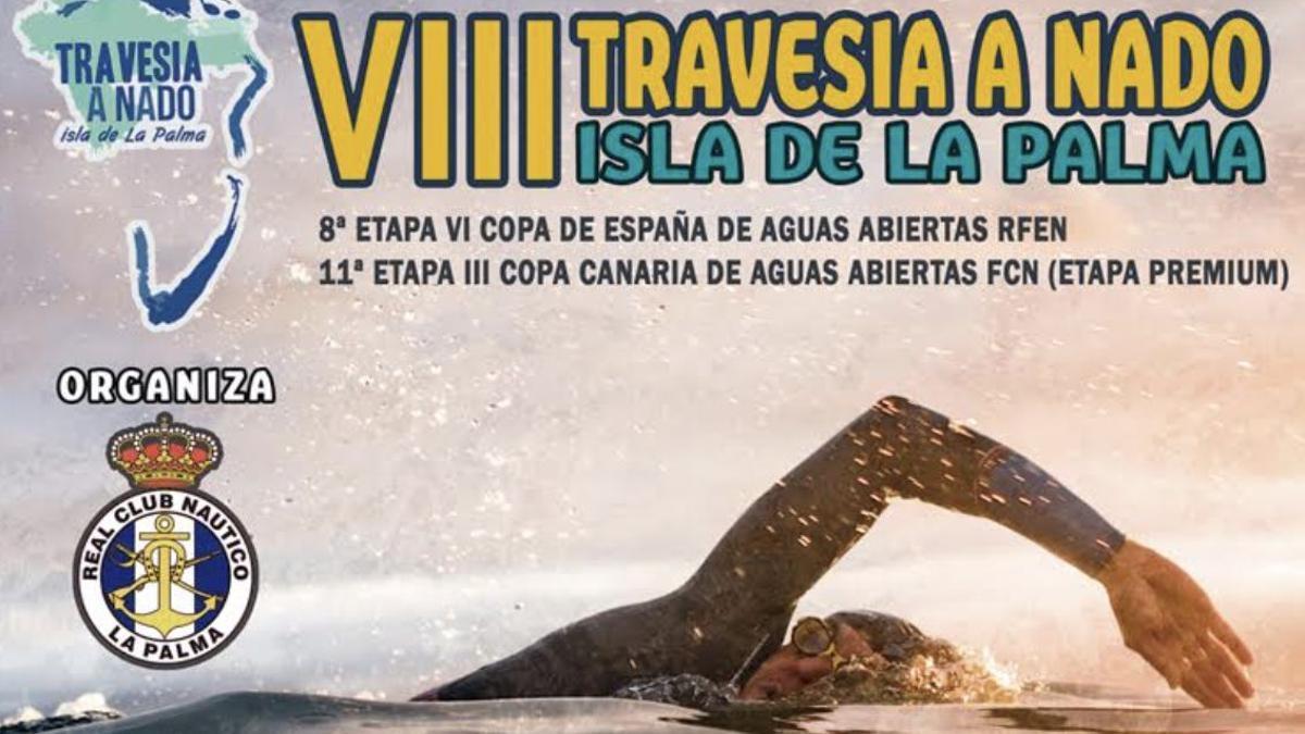 Imagen del cartel de la 'VIII Travesía a Nado Isla de La Palma'