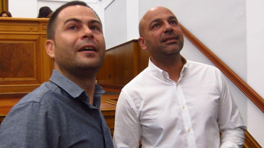 Diputados de Podemos en Castilla-La Mancha. José García Molina y David Llorente,
