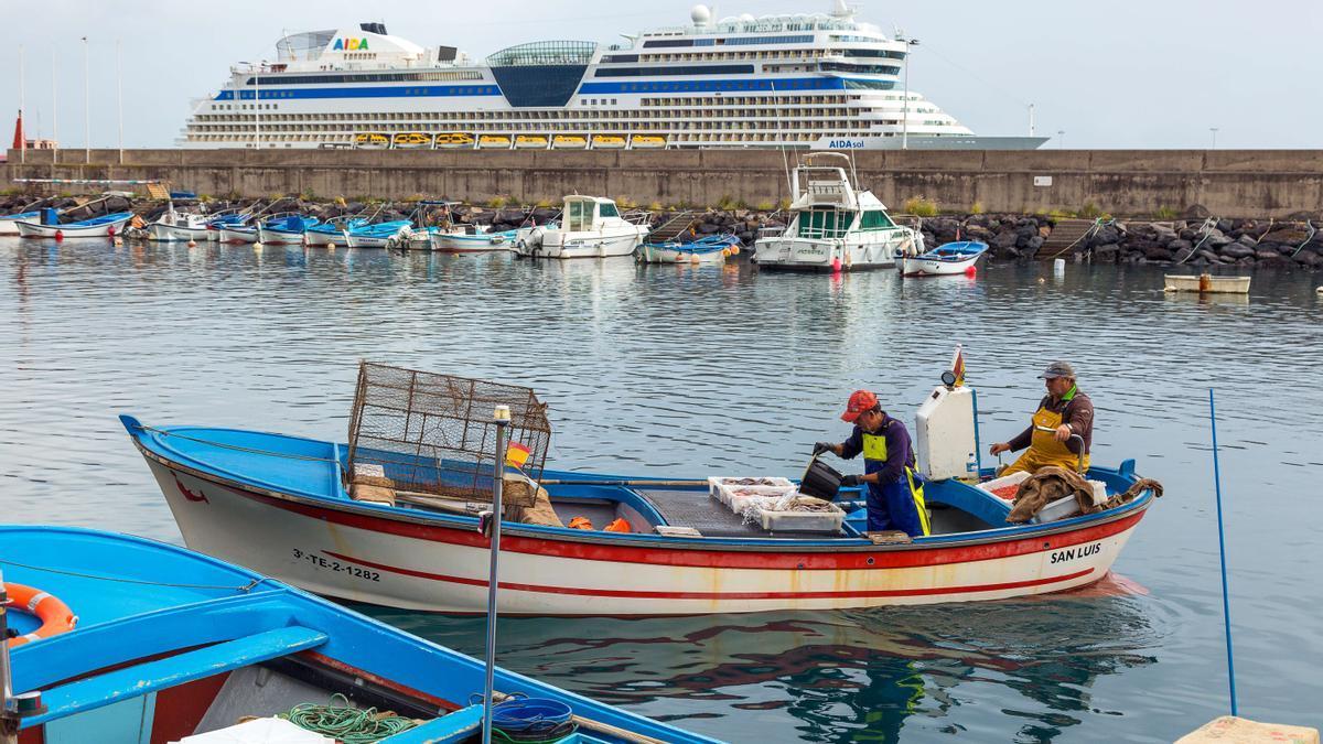 Muelle pesquero del Puerto de Santa Cruz de La Palma.