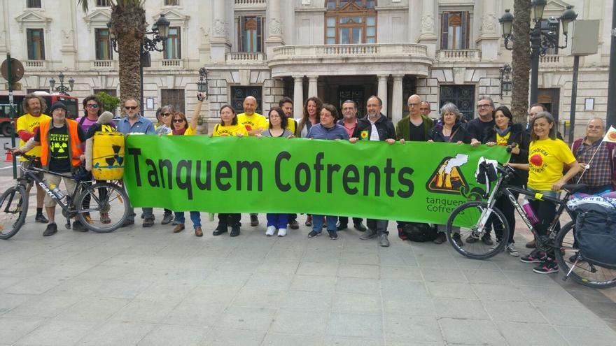 Una acción de Tanquem Cofrents en Valencia