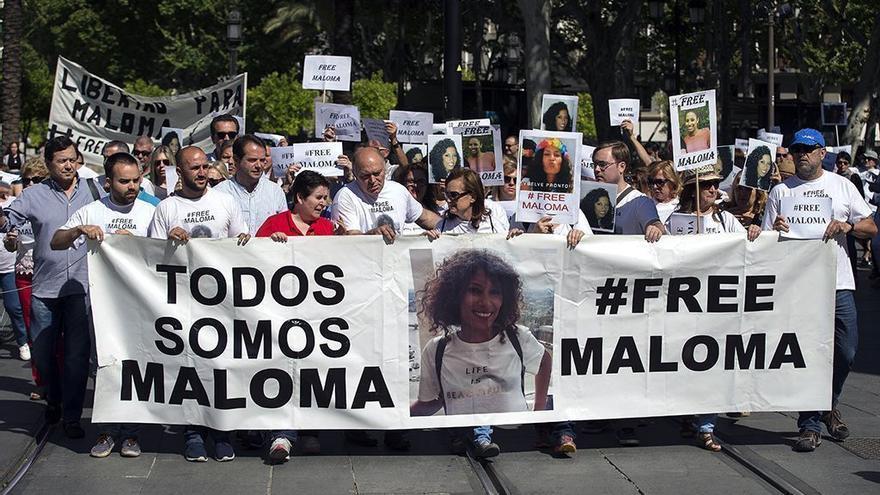 Una de las manifestaciones en las que se ha pedido la liberación de Maloma.