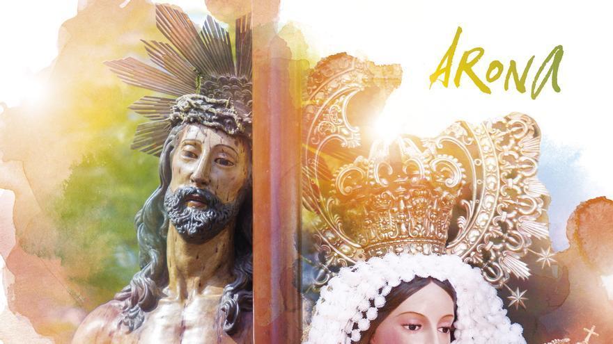 Cartel de los festejos que acoge el casco antiguo del municipio sureño