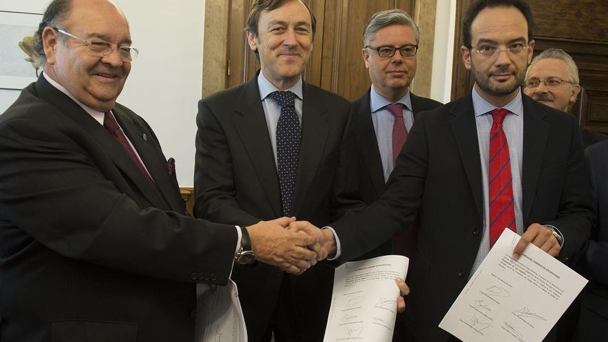 Acuerdo entre grupos parlamentarios sobre la reforma del Código Penal en materia de terrorismo. Foto: E.P.