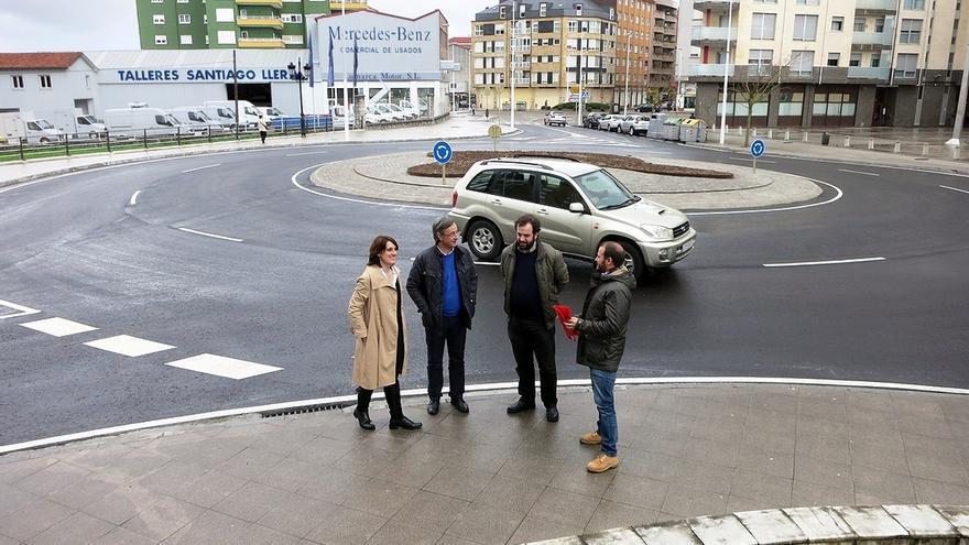 En servicio la nueva rotonda del Barrio Covadonga
