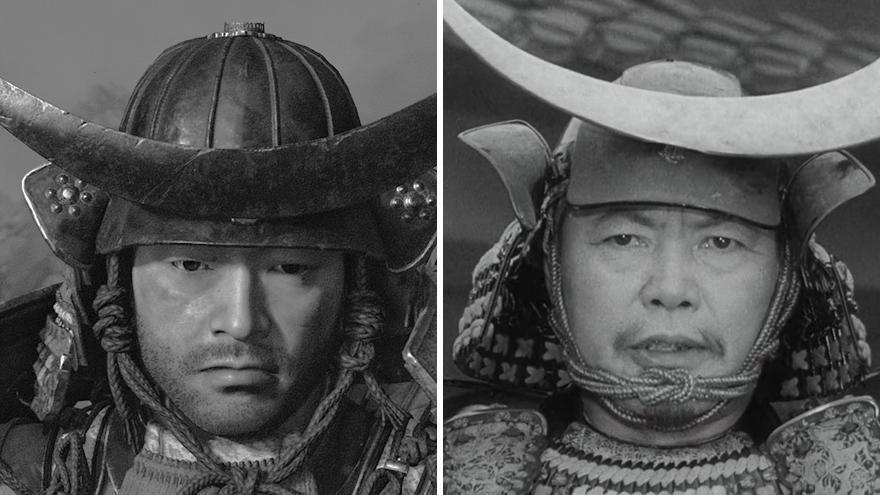 A la izquierda: 'Ghost of Tsushima'. A la derecha: 'Trono de sangre'