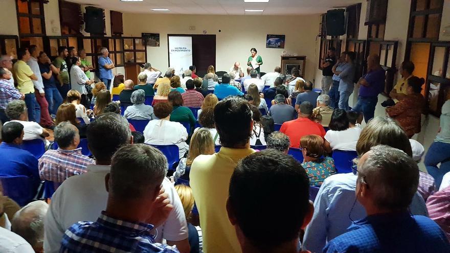 Un momento de la asamblea celebrada por los afiliados de CC en Los Llanos de Aridane.
