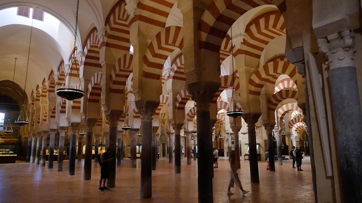 Imagen del interior de la Mezquita-Catedral de Córdoba.