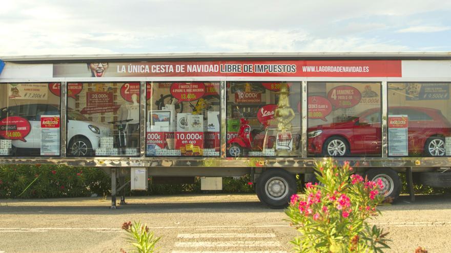 El camión de 'La Gorda de Navidad'.
