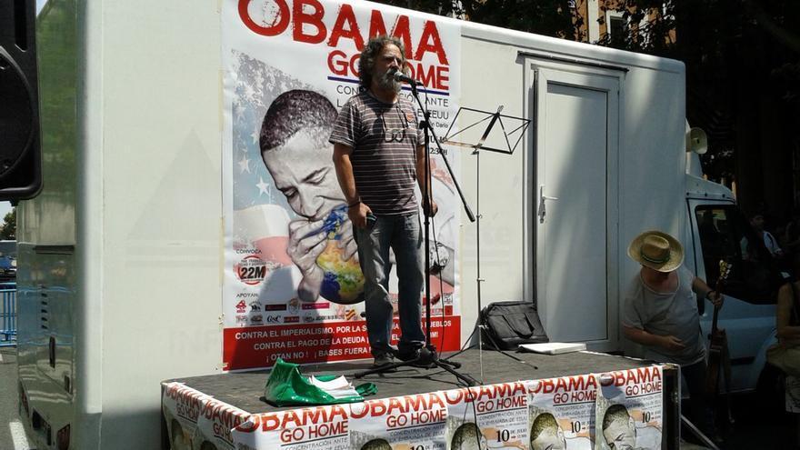 Discurso en repulsa de la visita del presidente de los Estados Unidos, Barack Obama