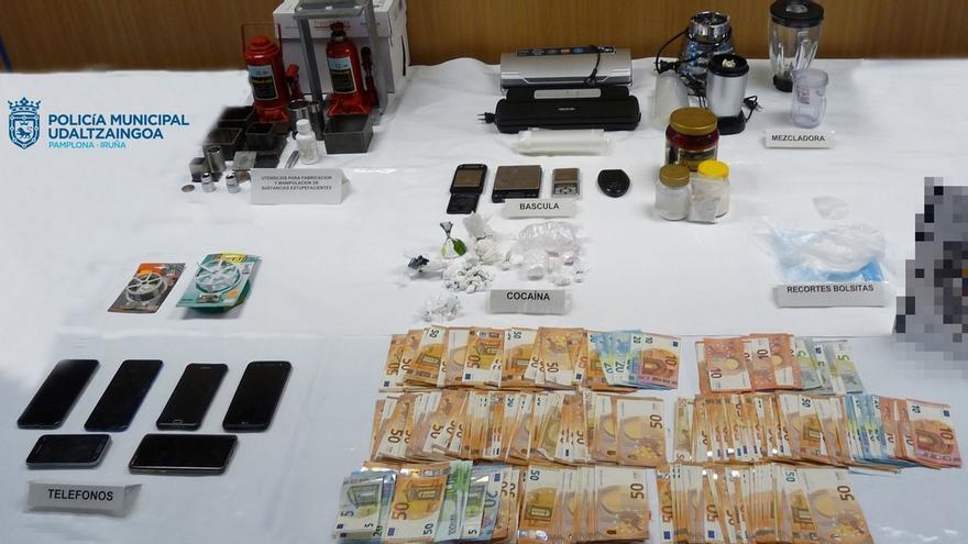 Policía Municipal de Pamplona detiene a cuatro personas por un presunto delito de tráfico de drogas