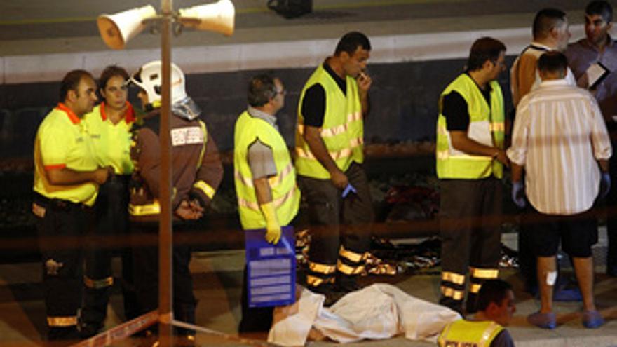 Accidente de tren en Castelldefels. (EUROPA PRESS)