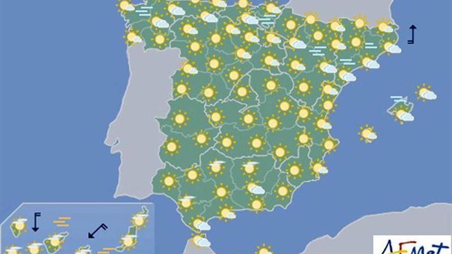 Hoy, tiempo estable y temperaturas altas en Canarias