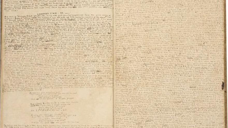 Manuscrito de Angria. (DP).