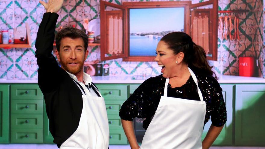 Pablo Motos e Isabel Pantoja en 'El Hormiguero' (Antena 3)