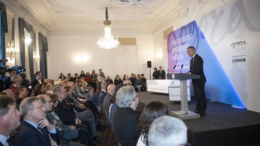 Gobierno Vasco propone que el Día de la Memoria se celebre el 14 de noviembre, al coincidir el 10N con las elecciones