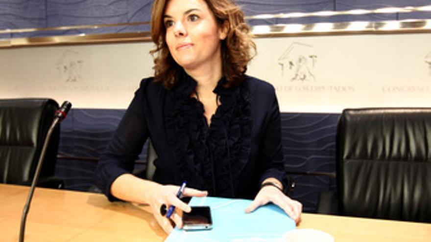 Portavoz parlamentaria del PP, Soraya Sáenz de Santamaría