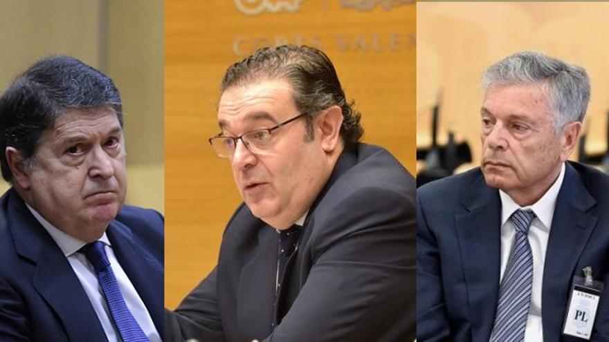 José Luis Olivas, Gerardo Camps y Modesto Crespo