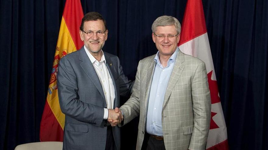 Rajoy y el primer ministro de Canadá analizan las expectativas del G20
