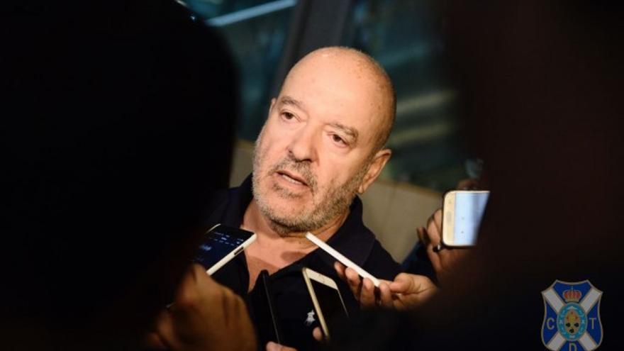 El presidente del CD Tenerife, Miguel Concepción