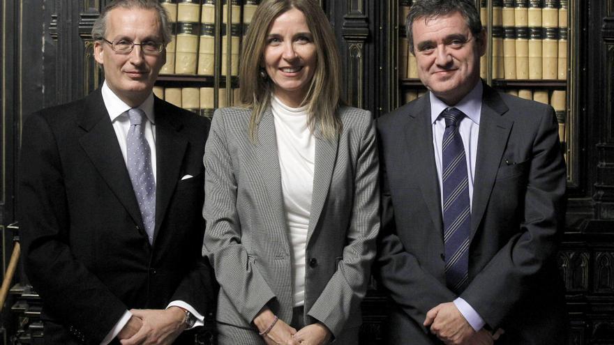 Antonio Alvarez-Buylla, Maria Isabel Valldecabres y Jose María Macias, candidatos a Vocales suplentes del Consejo General del Poder Judicial. EFE.