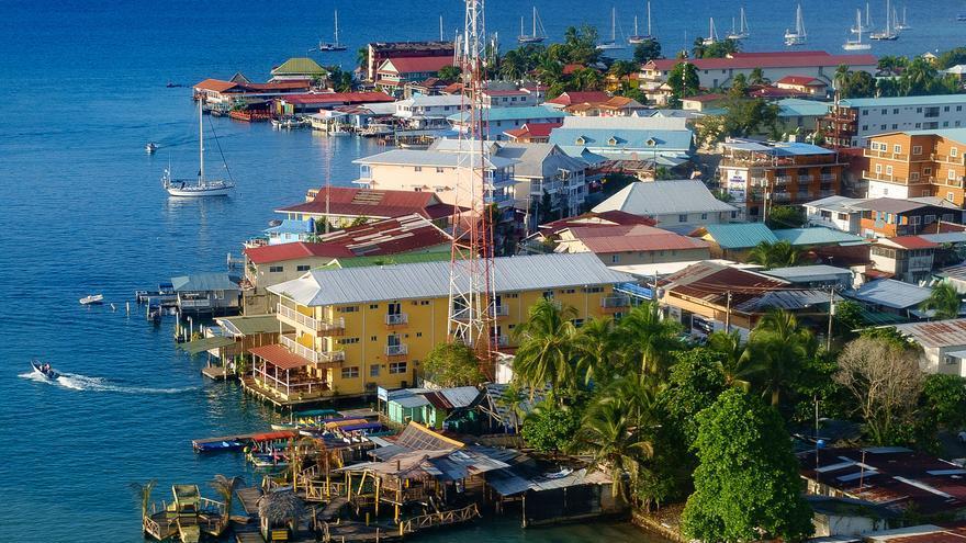 Vista aérea de los palafitos de la ciudad de Bocas del Toro. Felipe Valduga