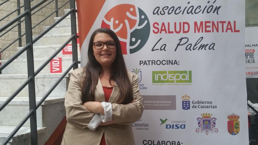 Lucía Rodríguez es trabajadora social de AFEM-La Palma. Foto: LUZ RODRÍGUEZ.