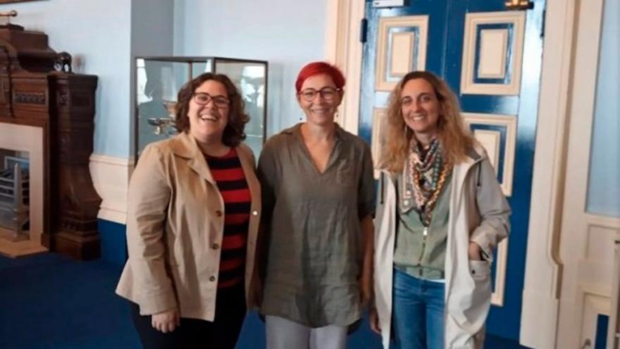 Las investigadoras del proyecto Cristina Huertas Abril, Natividad Adamuz Povedano y Elvira Fernández de Ahumada.