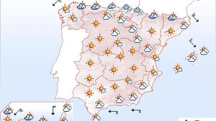 Hoy, intervalos de viento fuerte en Galicia, Ampurdán, Canarias y Estrecho