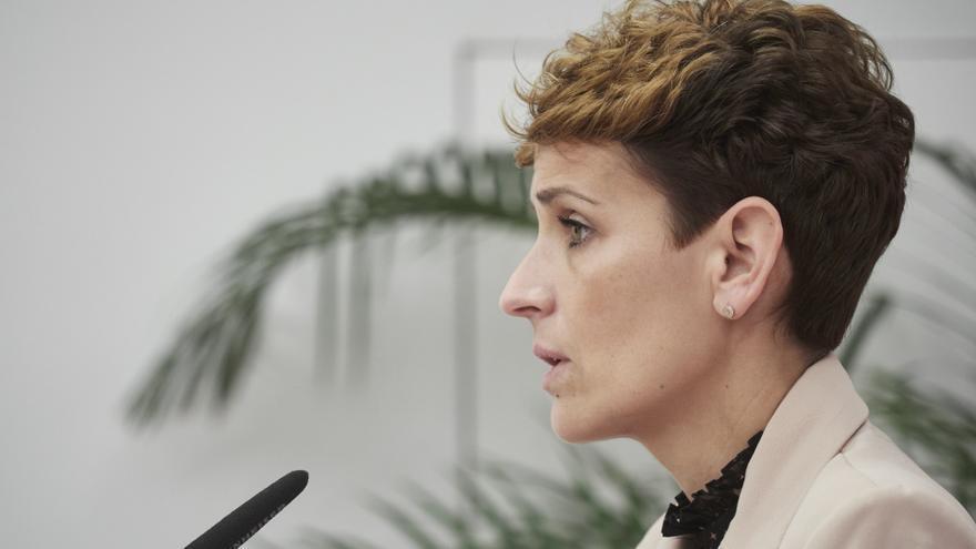 Archivo - La presidenta del Gobierno de Navarra, María Chivite, en una imagen de archivo.