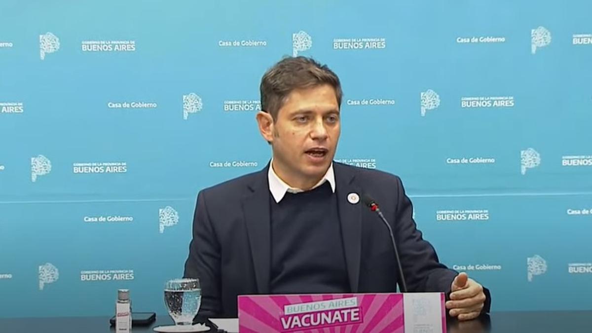 Axel Kicillof, en conferencia de prensa.