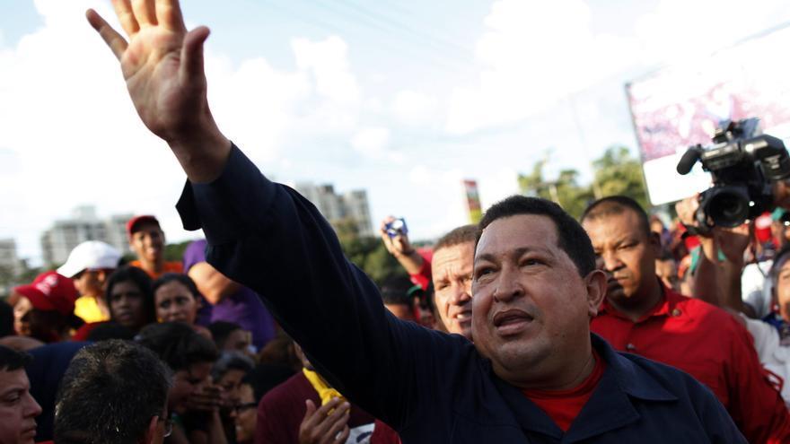 Chávez durante la última campaña electoral