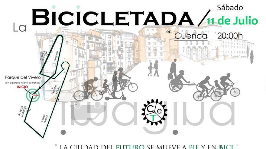 Buscando un cambio de paradigma de la movilidad en Cuenca, encima de una bicicleta