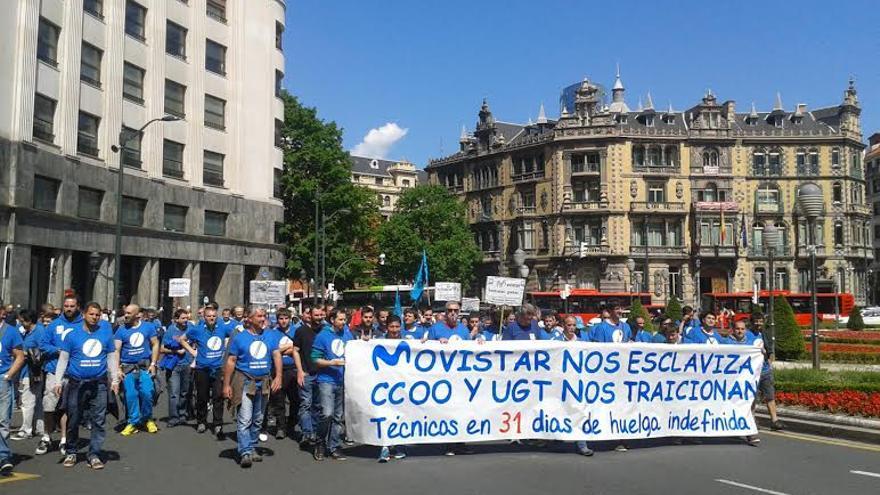 Una de las última manifestaciones celebradas en Bilbao.